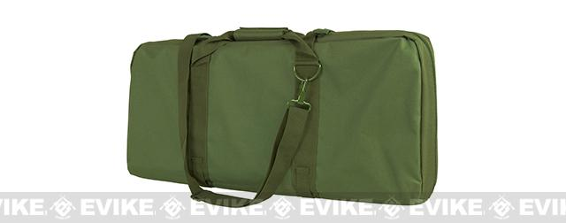 NcStar / VISM 28 Deluxe Dual Compartment Subgun / SBR Padded Carrying Bag / Case - OD Green
