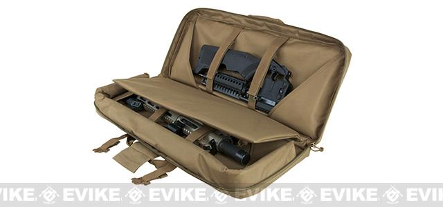 NcStar / VISM 28 Deluxe Dual Compartment Subgun / SBR Padded Carrying Bag / Case - Tan