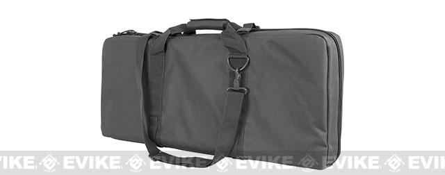 NcStar / VISM 28 Deluxe Dual Compartment Subgun / SBR Padded Carrying Bag / Case - Urban Grey