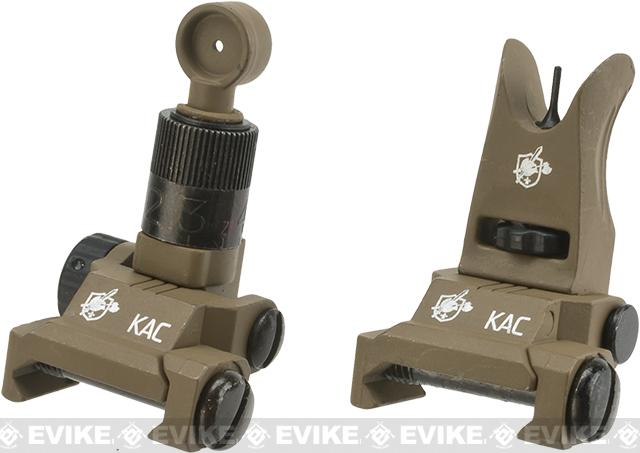 Knights Armament KAA Micro Back-up Iron Sights - Tan
