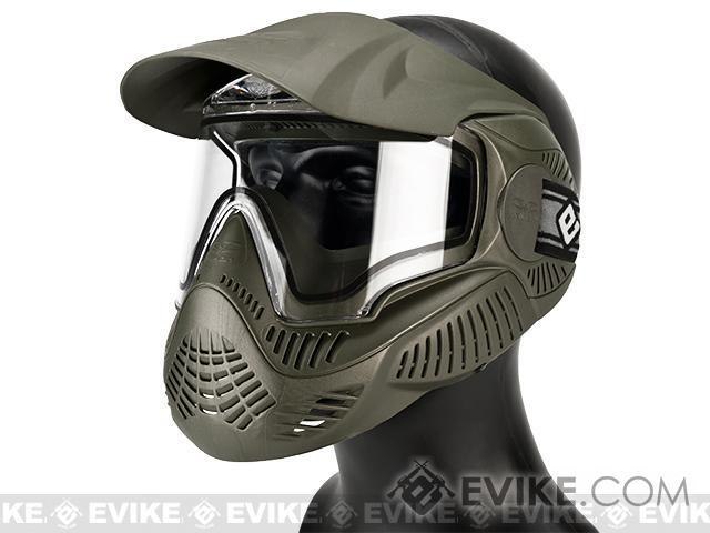Annex MI-7 ANSI Rated Full Face Mask with Thermal Lens by Valken (Color: OD Green)