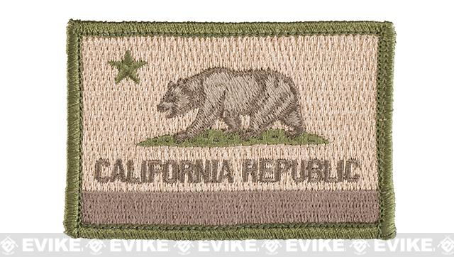 Evike.com Tactical Embroidered Flag Patch (State: California-Multicam The Golden State)