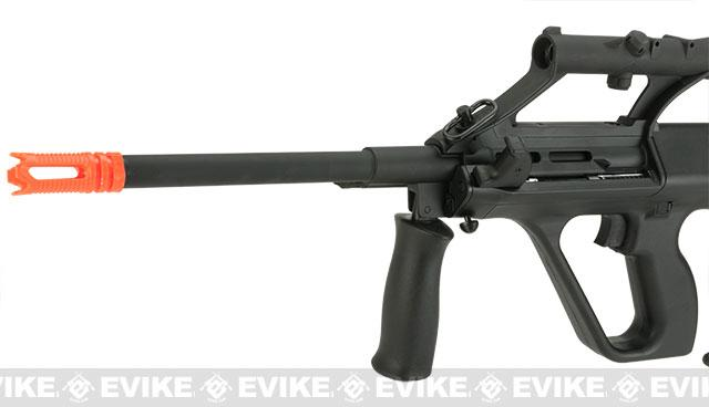 GHK Gas Blowback AUG A1 Airsoft Rifle with Integrated Optic - Black