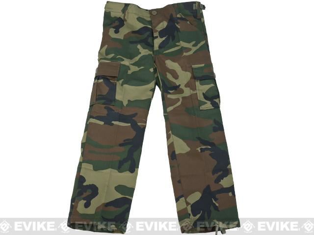 Rothco Kid's BDU Pants - Woodland / Size 14