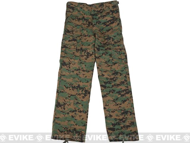 Rothco Kid's BDU Pants - Digital Woodland / X-Large