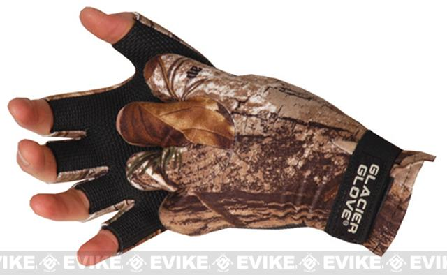 Glacier Gloves 707RT Midweight Pro-Hunter Fingerless Gloves - Realtree (Size: Small)