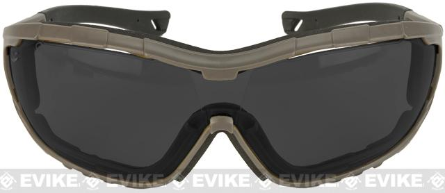 Axis Tactical Goggles by Valken - Green Frame / Smoke Lens