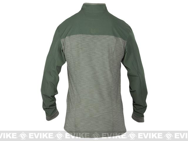 5.11 Tactical Rapid Response Quarter Zip Shirt - TDU Green (Size: Large)