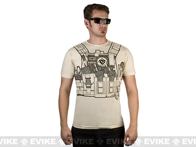 7.62 Design T-Shirt Special Edition Evike.com Bullet Bouncer - Sand (Size: Small)