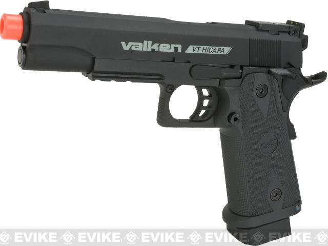 V Tactical VT Hi-Capa Metal Gas Blowback Airsoft Pistol w/ Hard Pistol Case by Valken - Black