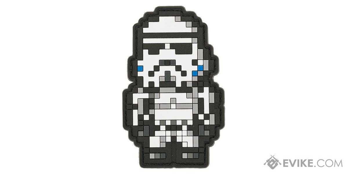 Aprilla Design PVC IFF Hook & Loop Patch - 8-Bit Stormtrooper