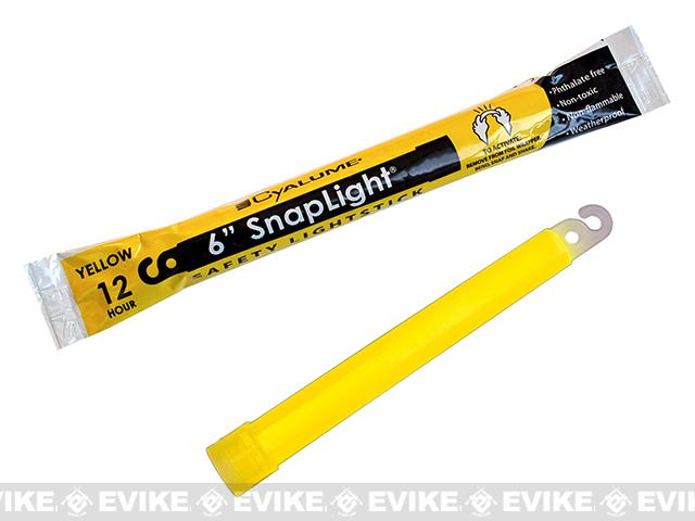 Cyalume 6 SnapLight LightStick - Yellow