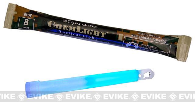 Cyalume 6 ChemLight LightSticks - Blue (Set of 10)
