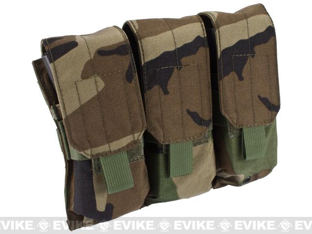 Triple M4 / G36 MOLLE Ready Magazine Pouch by Phantom - Woodland Camo