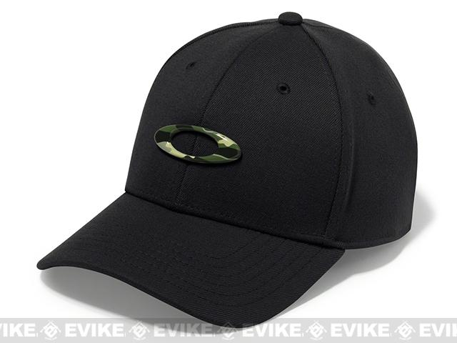 Oakley Tincan Cap Black/Graphic Camo - (Size: L/XL)