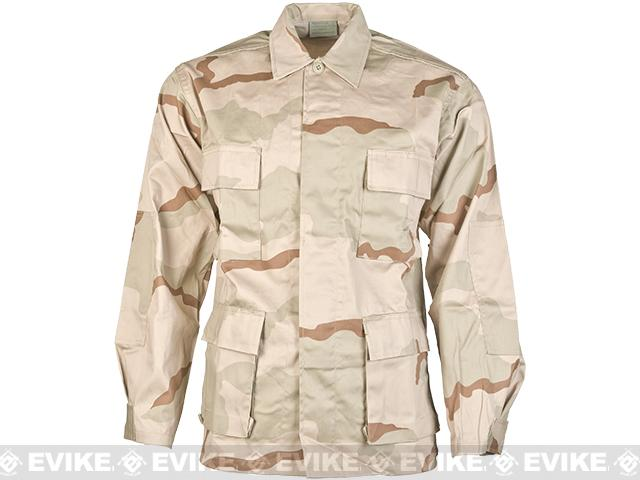 65/35 Cotton Poly Ripstop BDU Jacket  (Size: L) - 3 Color Desert