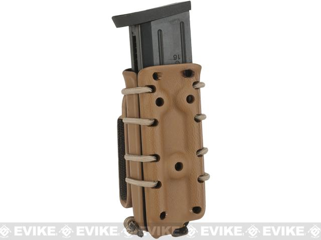 G-Code Scorpion Adjustable Double Stack Pistol Mag Carrier w/ Belt Loops - Coyote Tan