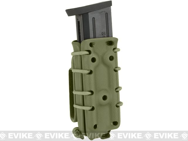 G-Code Scorpion Adjustable Double Stack Pistol Mag Carrier w/ Belt Loops - OD Green