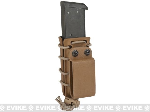 G-Code Scorpion Adjustable Single Stack Pistol Mag Carrier w/ Belt Loops - Coyote Tan