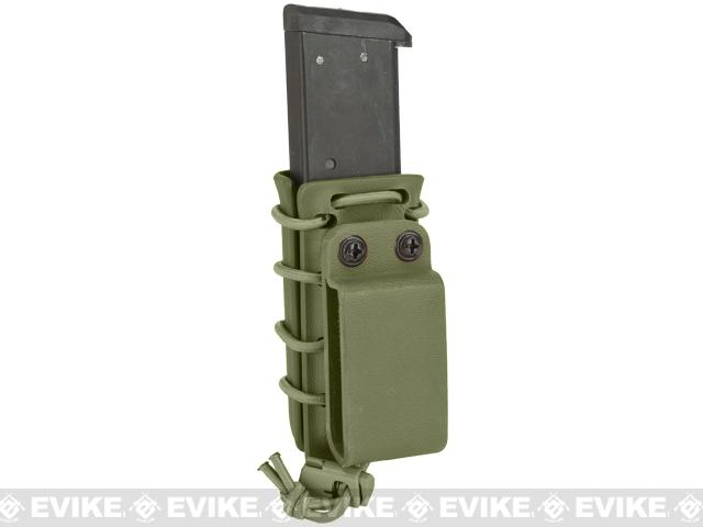 G-Code Scorpion Adjustable Single Stack Pistol Mag Carrier w/ Belt Loops - OD Green