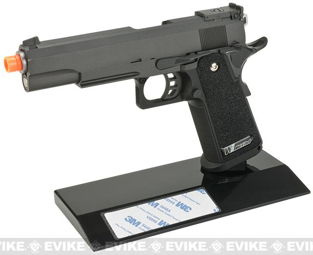 Angel Custom Onyx Display Grade Acrylic Pistol Stand (General Double Stack Pistols & Handgun)