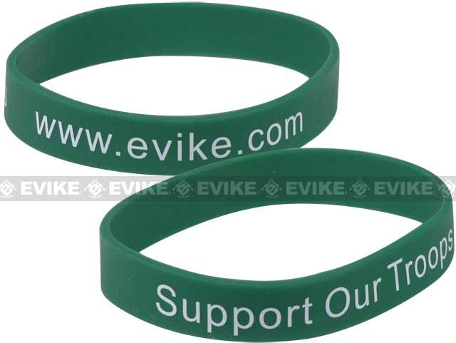 Official Licensed Evike.com Support Our Troops Custom Silicone Bracelet