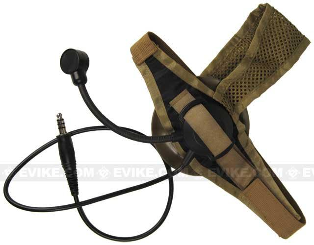Matrix / Element Military Style Tactical Communications Headset Type D - Desert Tan