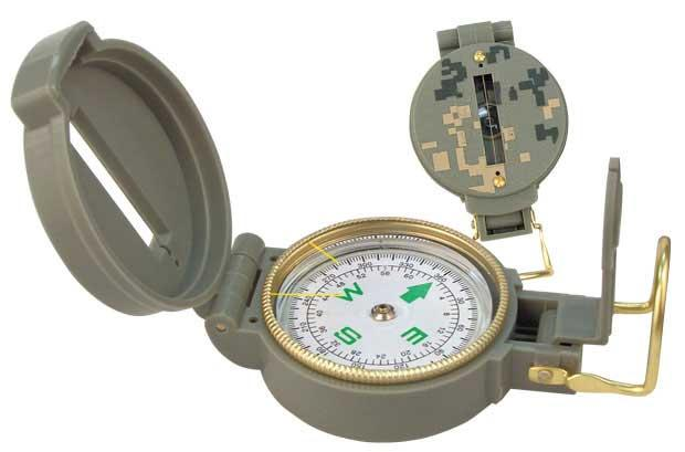 Military Style ACU Digital Camoflage Lensatic Compass