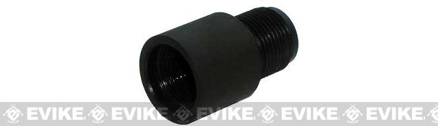 Matrix CNC 14mm Negative (-) to 14mm Positive (+) Flashhider / Barrel Adapter for Airsoft AEG