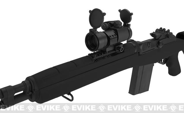 G&P M14 DMR Custom Airsoft AEG Sniper Rifle w/ Red Dot Scope - Black (Package: Gun Only)