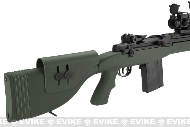 G&P M14 DMR Custom Airsoft AEG Sniper Rifle w/ Red Dot Scope - Foliage Green (Package: Gun Only)