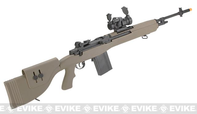 Pre-Order ETA March 2017 G&P M14 DMR Custom Airsoft AEG Sniper Rifle w/ Red Dot Scope - Desert (Package: Add Battery + Charger)