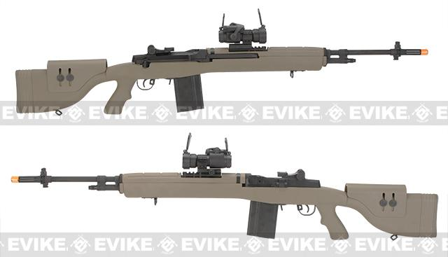 Pre-Order ETA June 2017 G&P M14 DMR Custom Airsoft AEG Sniper Rifle w/ Red Dot Scope - Desert (Package: Add Battery + Charger)