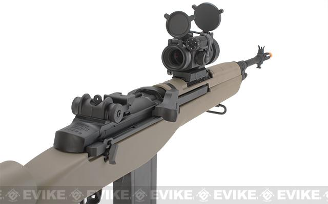 G&P M14 DMR Custom Airsoft AEG Sniper Rifle w/ Red Dot Scope - Desert (Package: Gun Only)