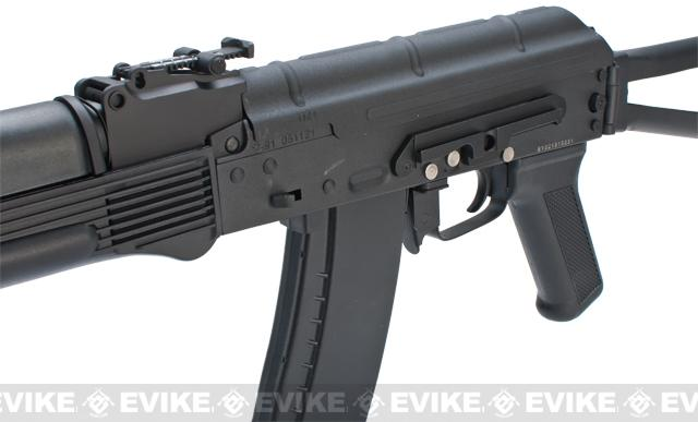 New Version Full Metal CYMA / Kalash AK-74 Airsoft AEG Rifle w/ Side Folding Stock - (Package: Gun Only)