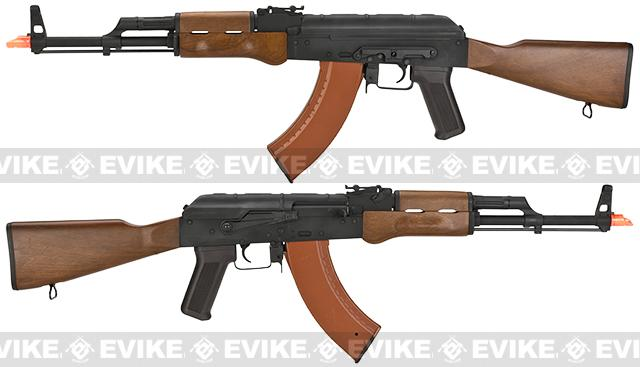 CYMA AK74-M Airsoft AEG Rifle w/ Imitation Wood Furniture - (Package: Gun Only)