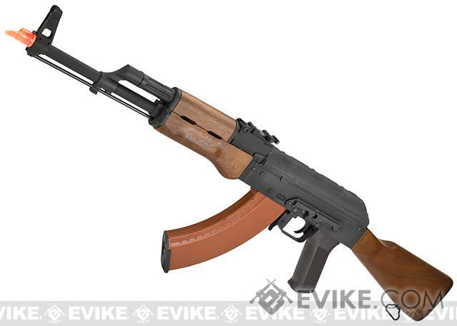 CYMA AK74-M Airsoft AEG Rifle w/ Imitation Wood Furniture - (Package: Add Battery + Charger)