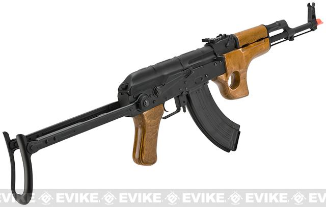 Pre-Order ETA December 2016 CYMA Full Metal AK47-SU Airsoft AEG Rifle with Folding Stock - Real Wood (Package: Add Battery + Charger)