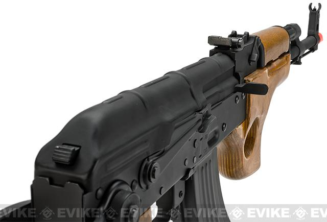 Pre-Order ETA September 2016 CYMA Full Metal AK47-SU Airsoft AEG Rifle with Folding Stock - Real Wood (Package: Gun Only)