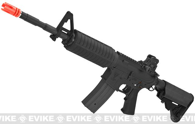 z Echo1 Platinum Edition Full Metal M4 Crane Stock Airsoft AEG Rifle Package (w/Custom Hard Case) - Black