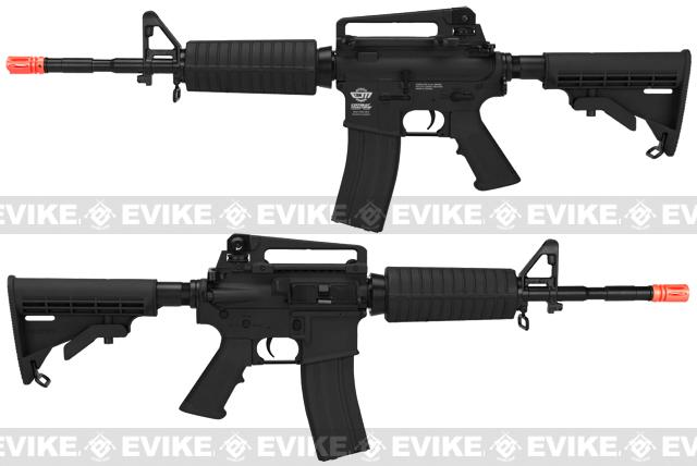 G&G Blowback GR16 Combat Machine Airsoft AEG Rifle - Black (Package: Add 8.4v 1600mAh Battery + Charger)