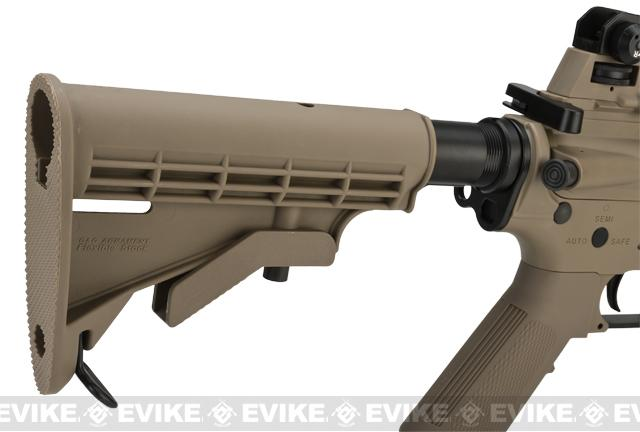 G&G Blowback GR16 DST Combat Machine Airsoft AEG Rifle - Tan (Package: Add 9.6 Butterfly Battery + Smart Charger)