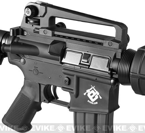 Evike.com Special Edition G&G Crane Stock CM16 Carbine Airsoft AEG Rifle - Black (Package: Gun Only)