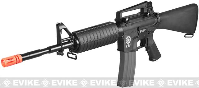 z Evike.com Special Edition G&G Full Stock CM16 Carbine Airsoft AEG Rifle - (Black)