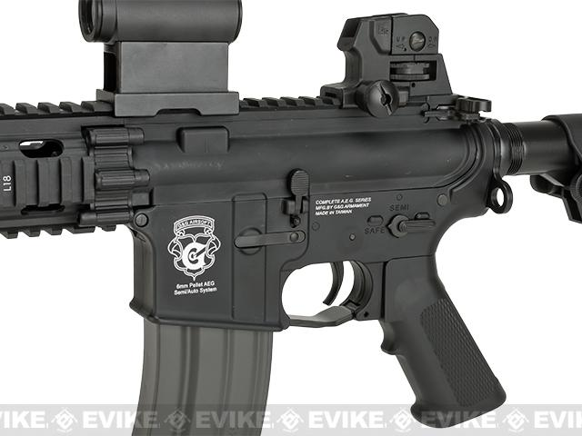 G&G GR16 CQW RUSH Airsoft Blowback AEG Rifle - Black (Package: Add 9.6 Butterfly Battery + Smart Charger)