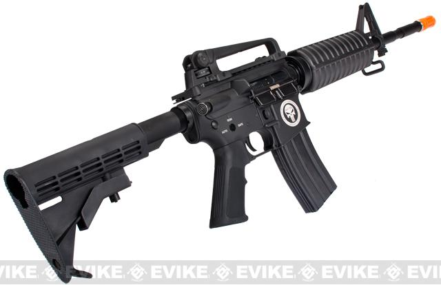 G&P Limited Edition M4 Carbine Full Metal Airsoft AEG Rifle w/ Navy Seal Skull Frog Laser Engraving