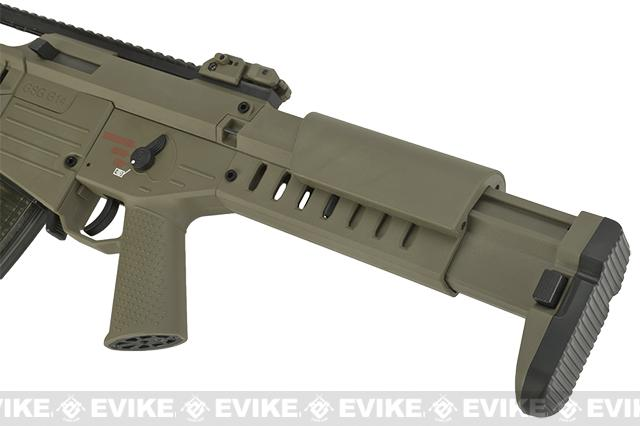 GSG Tactical G14 Carbine Electric Blowback AEG by SoftAir - Tan (Package: Red Dot + Mock Suppressor)