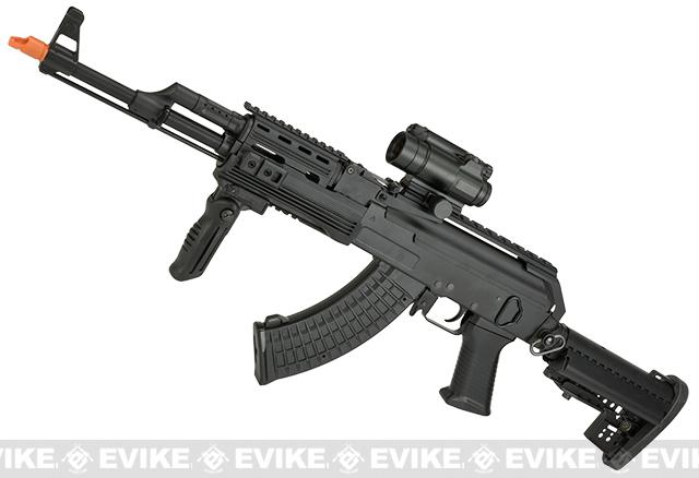 JG Full Metal AK47 Custom Contractors Weapon AK74 (C.P.W) Full Size Airsoft AEG Electric Rifle Package.