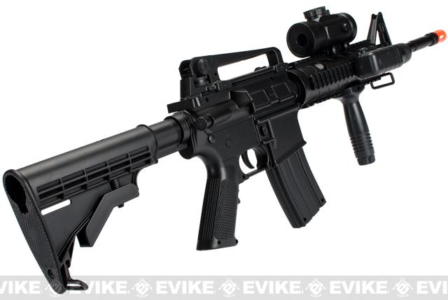 DE M83 Full Size M4 RIS Carbine Airsoft Low Power Airsoft AEG Electric Rifle Package