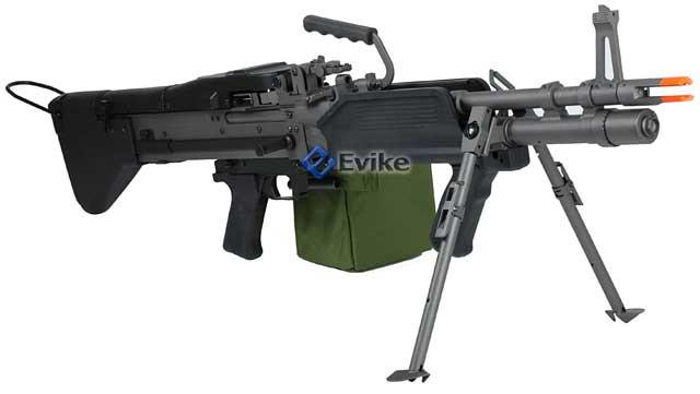 Bone Yard - A&K Full Metal Mk43 Mod 0 / M60E4 Navy Airsoft Light Machine Gun AEG (Store Display, Non-Working Or Refurbished Models)
